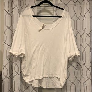 Free people white T-shirt size med